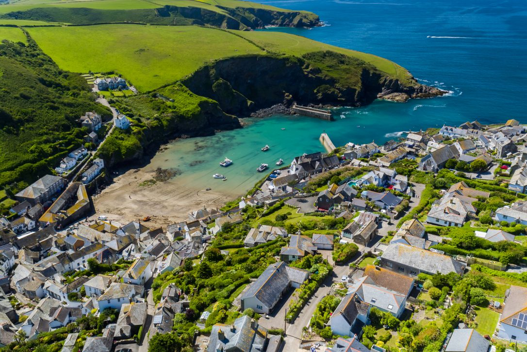 Aerial view of Port Issac, North Cornwall