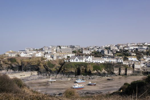 Port Isaac, the filming location for the Fisherman's Friends movie