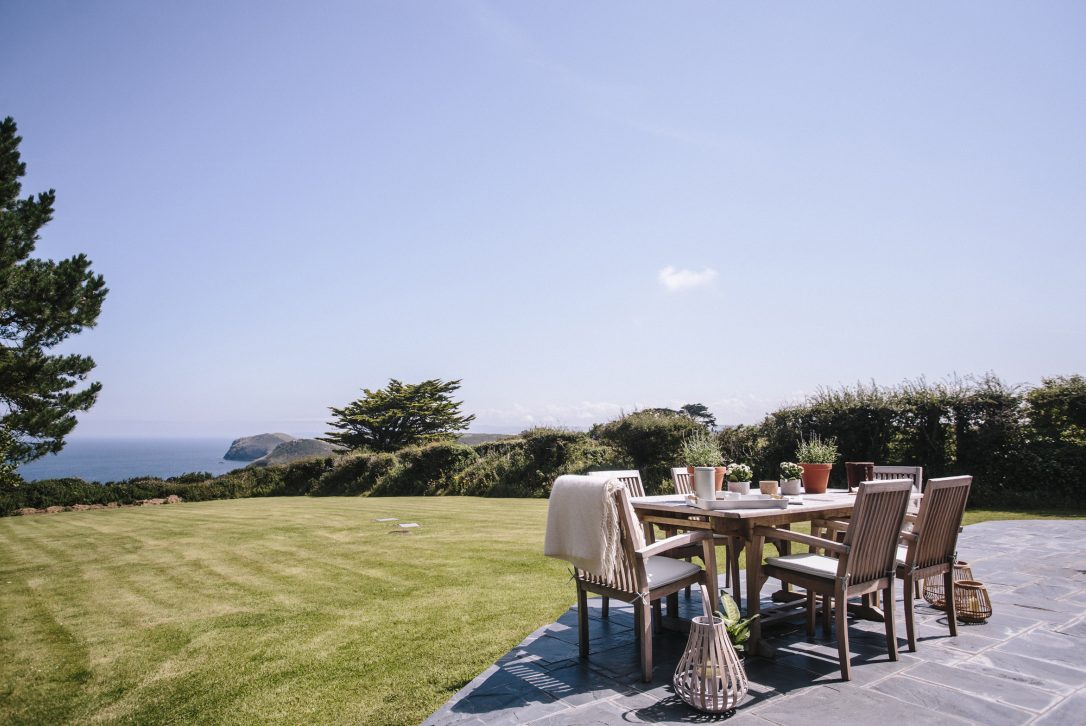 Sea view from Troy, a self-catering holiday home in Polzeath, North Cornwall
