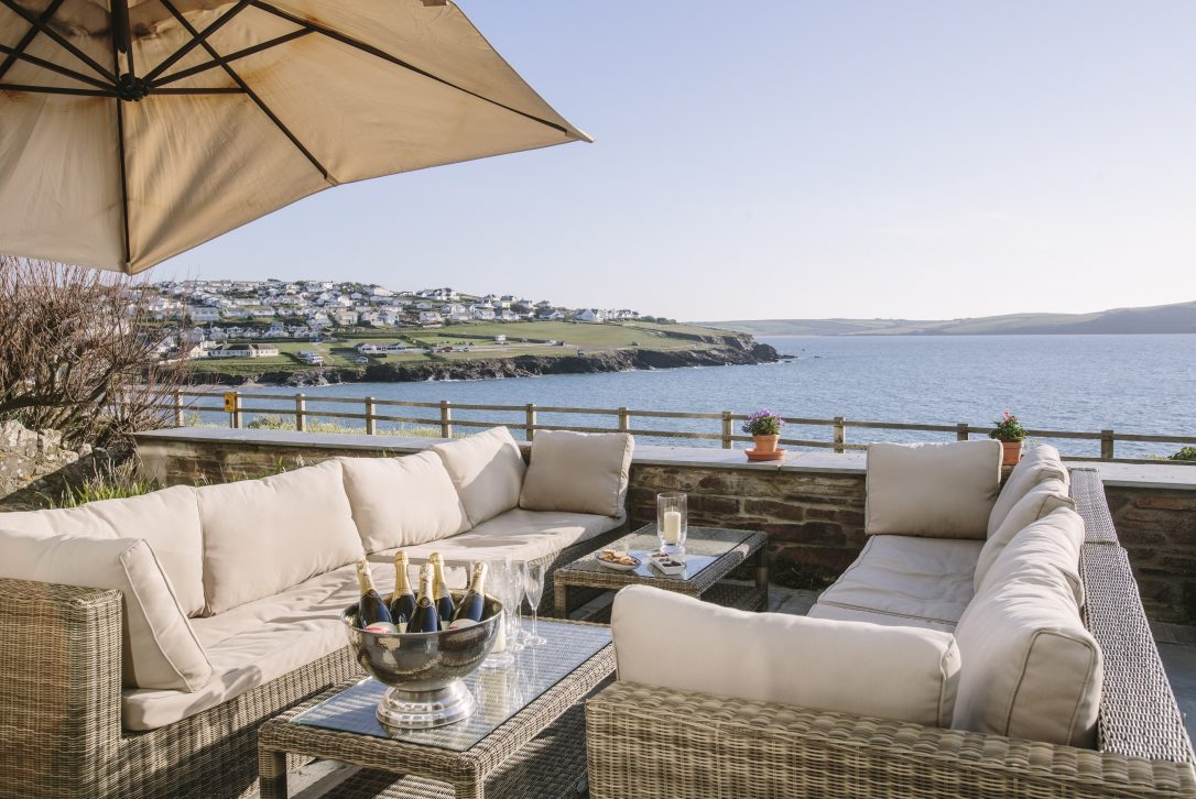 Sea view from Tristram, a self-catering holiday home in Polzeath, North Cornwall