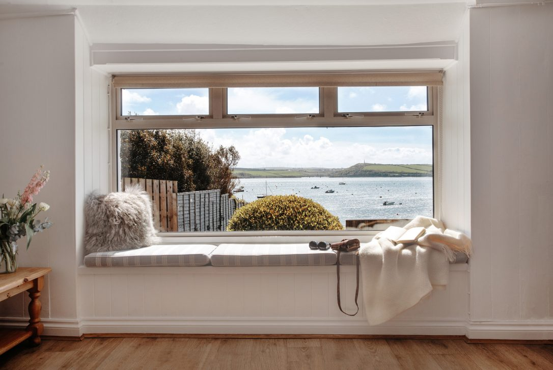 Estuary view from Wheel Cottage, a self-catering holiday home in Rock, North Cornwall