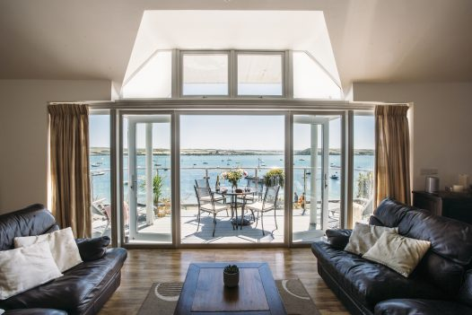 Sea view from Orchard House, a self-catering holiday home in Rock, North Cornwall