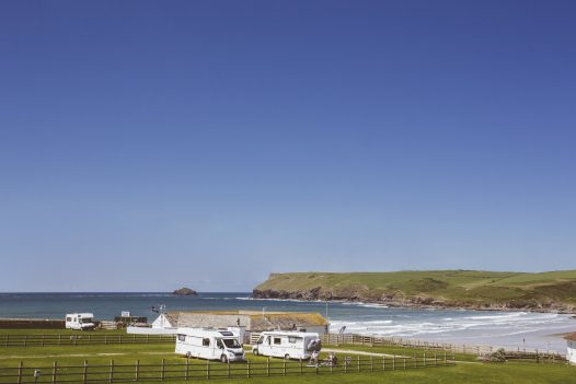 Sea view from Drum Fish, a self-catering holiday home in Polzeath, North Cornwall