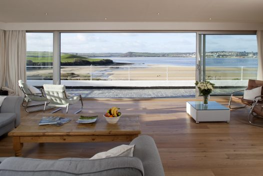 Sea view from Mullets, a self-catering holiday home in Porthilly, Rock, North Cornwall
