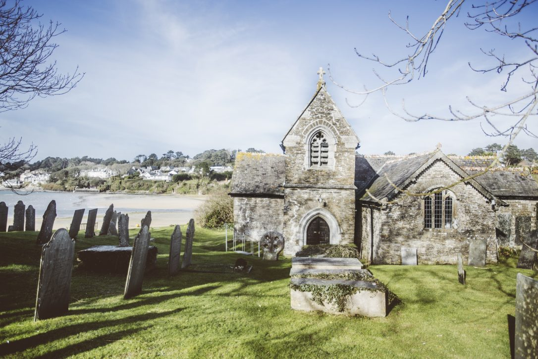 St Michaels Church in Porthilly Cove, Rock, North Cornwall