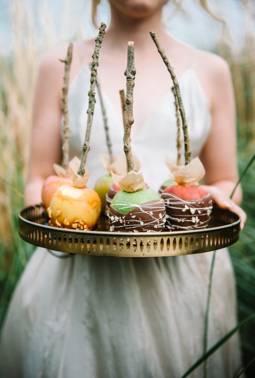Wedding toffee apples