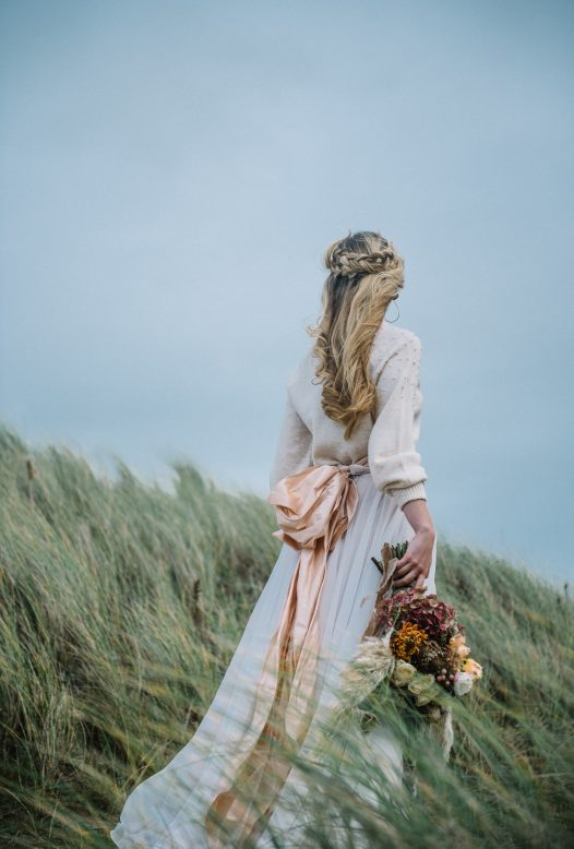 Wedding in the dunes at Rock, North Cornwall