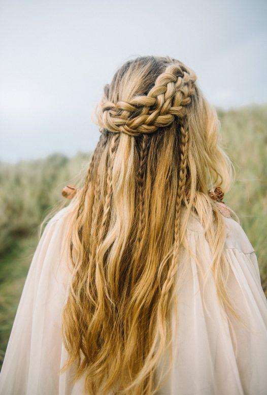 Inspiration for coastal wedding hair