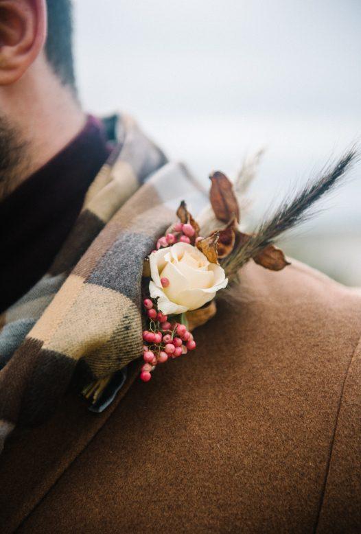 Groom autumn wedding wear