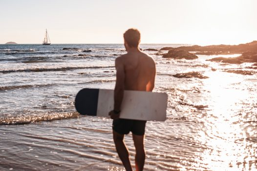 The calm waters of Baby Bay are perfect for a swim or bellyboard