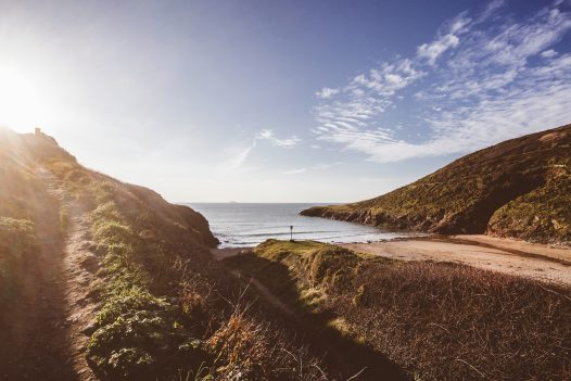 Baby Bay can be accessed via the South West Coastal Path from New Polzeath