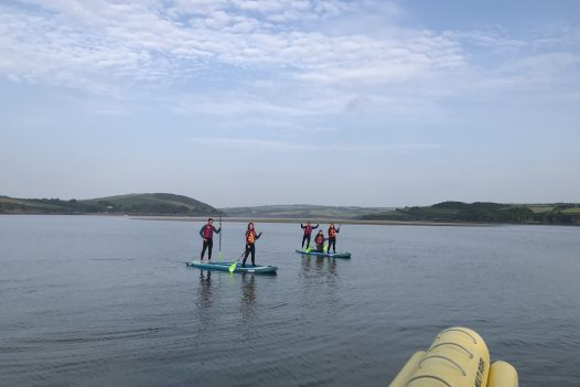 Paddleboarding with Camel Ski School in Rock, North Cornwall