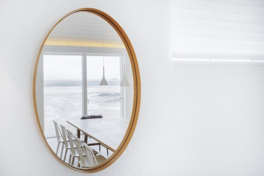 Pinch London mirror at Carn Mar, a self-catering holiday home above Polzeath beach, North Cornwall