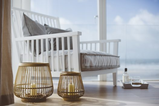 Stylish interiors at Carn Mar, a self-catering holiday home above Polzeath beach, North Cornwall