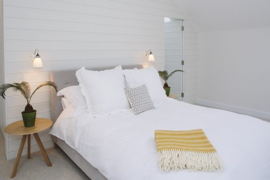 Beautiful double bedroom at Carn Mar, a self-catering holiday home above Polzeath beach, North Cornwall
