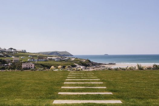 Large garden at Carn Mar, a self-catering holiday cottage in Polzeath, North Cornwall