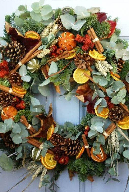 Christmas wreath making at Knightor Winery, Cornwall