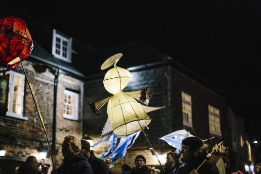 Padstow Christmas Festival lantern parade, Padstow, North Cornwall