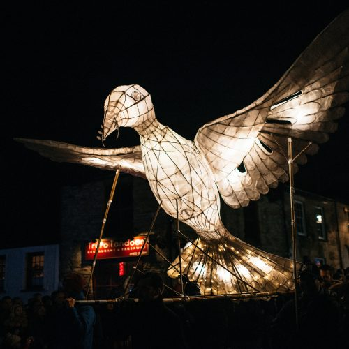 The Truro City of Lights Parade 2018 in Cornwall