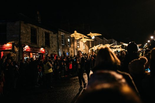 Truro comes alive with lights and colour during the lantern parade