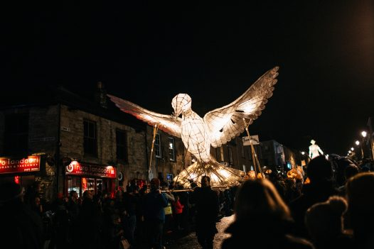 The bird lantern was a crowd favourite at the Truro City of Lights lantern parade