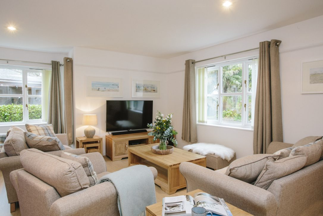 Lounge at 1 Menague, a self-catering holiday home in Rock, North Cornwall
