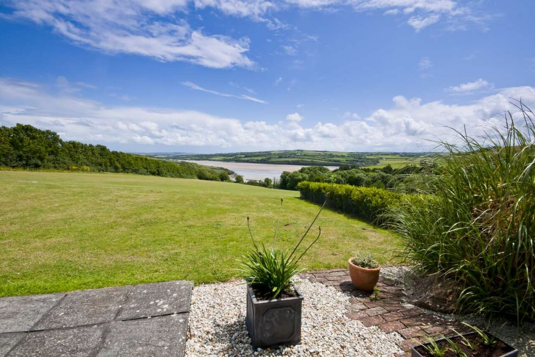 View from Kate Cottage, a self-catering holiday cottage in Rock, North Cornwall