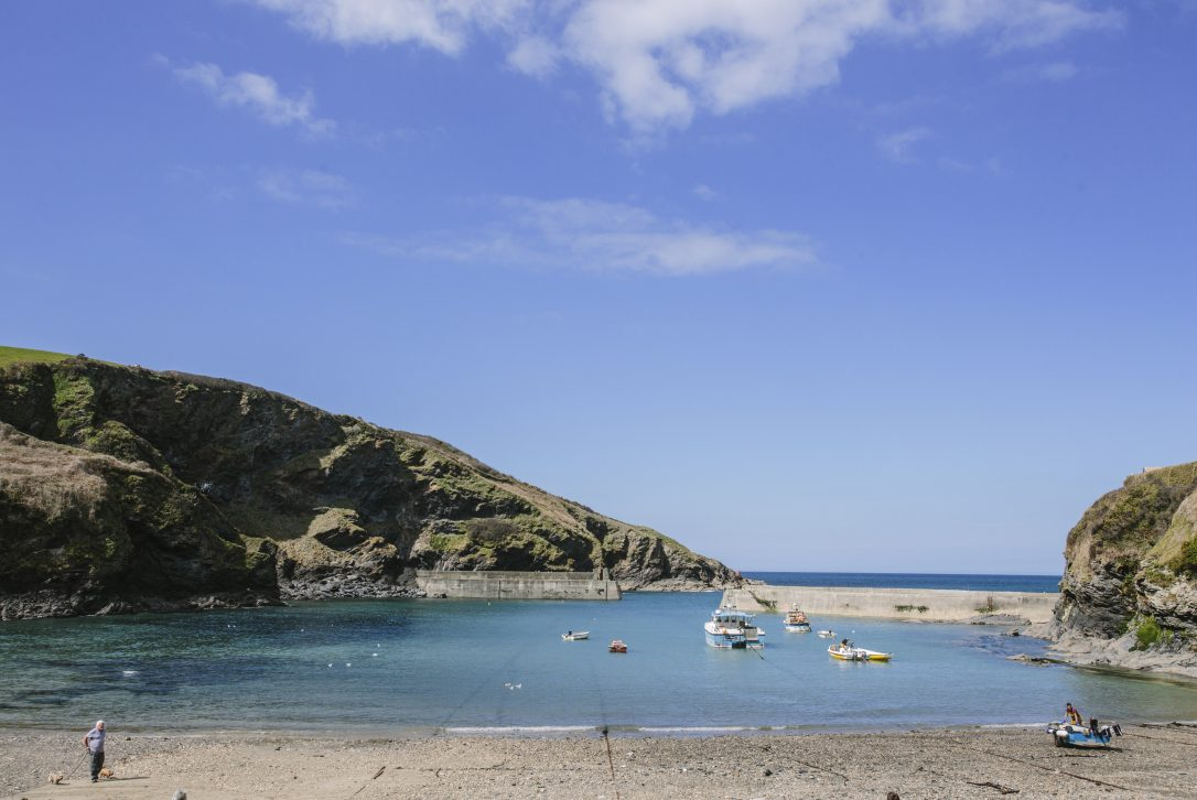 Port Isaac harbour in North Cornwall