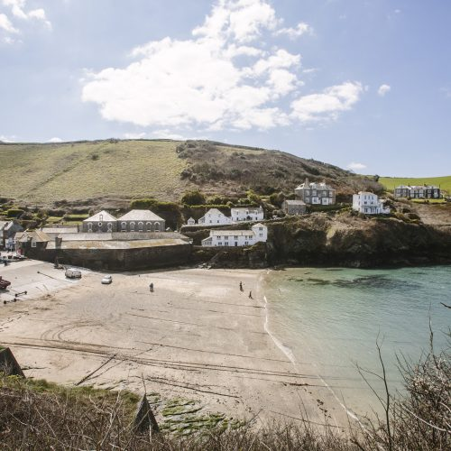 The view across Port Isaac harbour