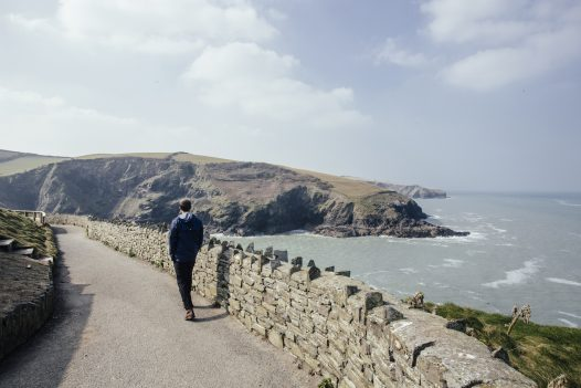Enjoy views out to sea from the coast path between Port Isaac and Port Gaverne