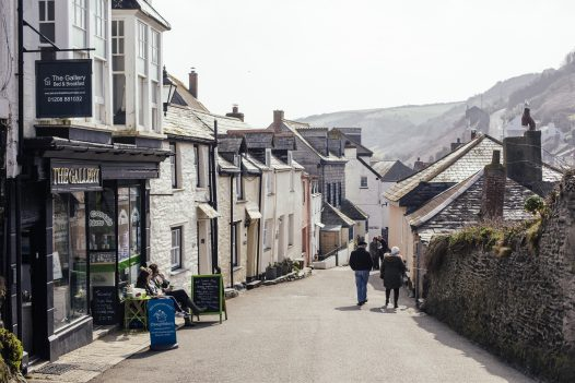 The narrow streets of Port Isaac in North Cornwall