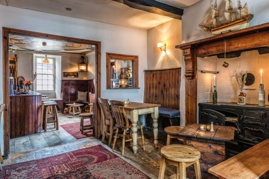 Inside the Golden Lion pub in Port Isaac