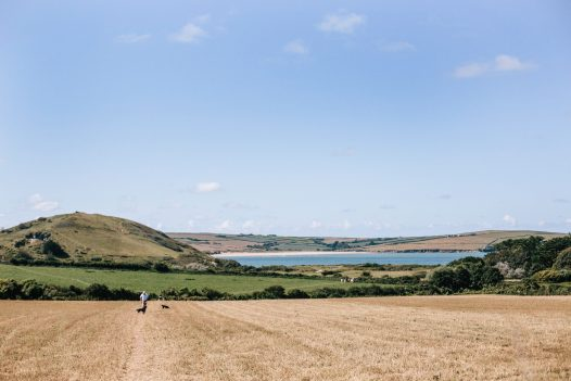 The scenic walk across fields to get to Daymer Bay from Tamarisk Lodge