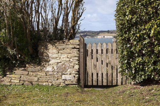 Gate from Mullets, a self-catering holiday home in Porthilly, Rock, North Cornwall