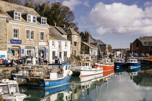 Padstow harbour and boats