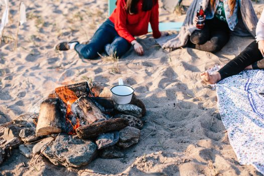 Enjoy a beach barbecue with your four legged friend in Porthilly