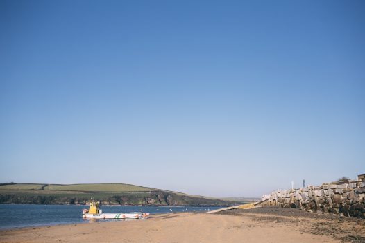 The ferry arriving in Rock from Padstow