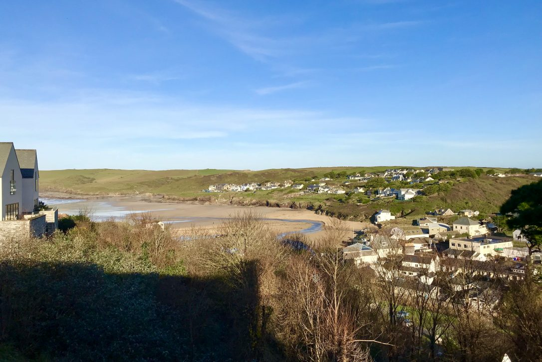 Views from Dry Creek House, a self-catering holiday home in Polzeath, North Cornwall