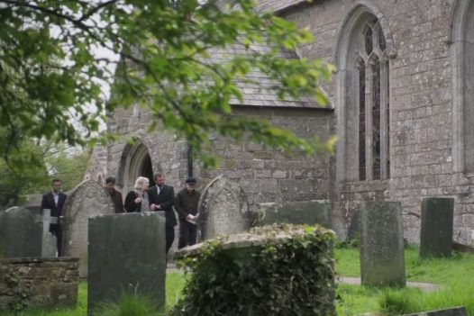Saint James church in St Kew was one of the filming locations for the Fisherman's Friends film