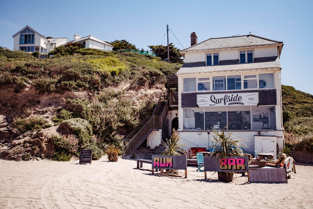 Surfside, one of our top picks for places to eat in Polzeath, North Cornwall