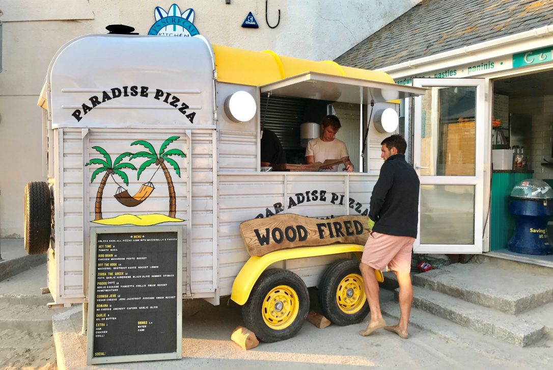 Paradise Pizza, one of our top picks for places to eat in Polzeath, North Cornwall