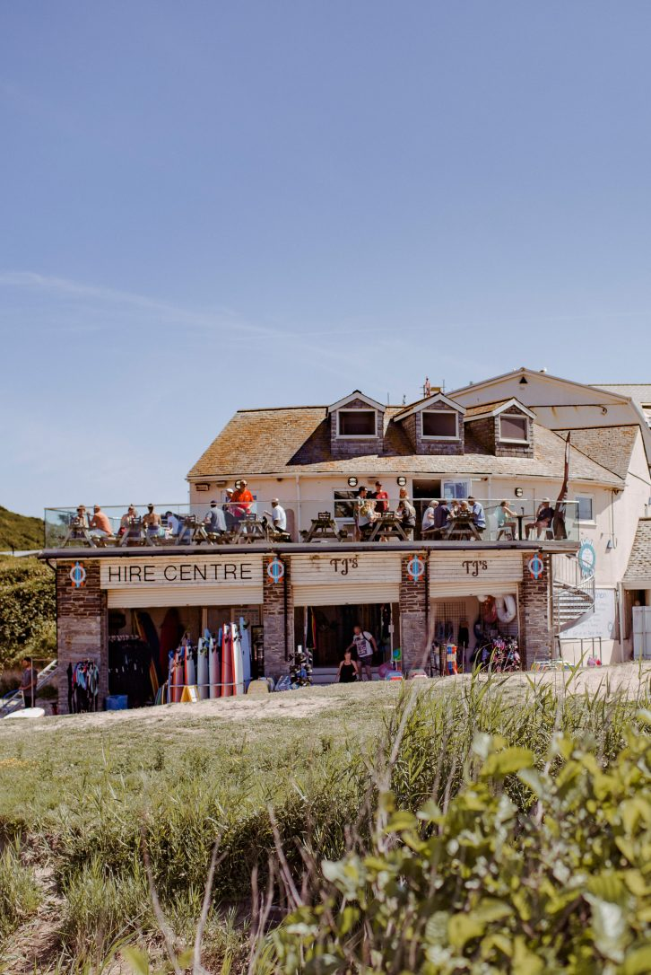 TJs Cafe, one of our top picks for places to eat in Polzeath, North Cornwall