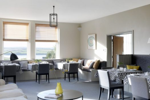 The St Enodoc Hotel restaurant in Rock, North Cornwall