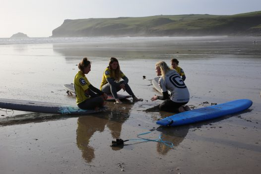 Stay in a Latitude50 property and enjoy easy access to Polzeath beach and the surf schools including George's Surf School