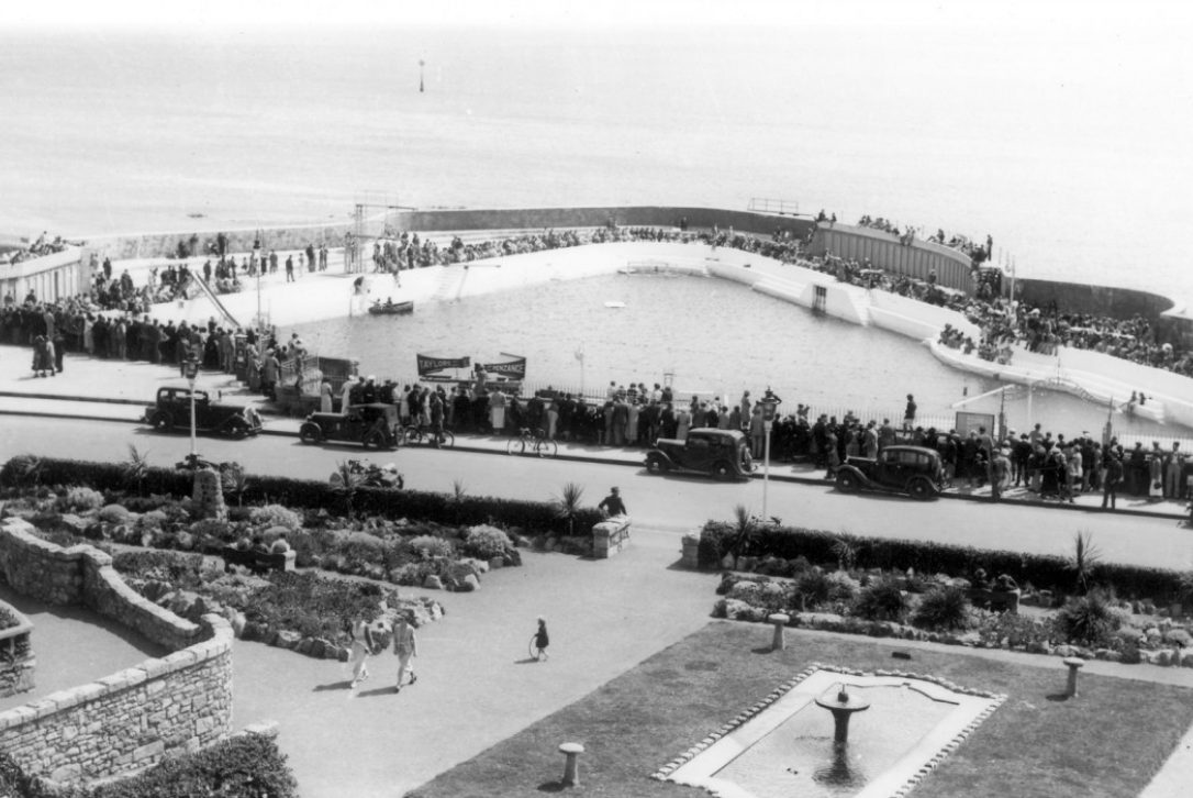 Historical photo of the Jubilee Pool in Penzance