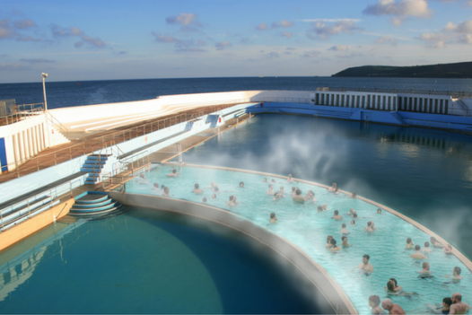Artist impression of the geothermal element of the Jubilee Pool in Penzance