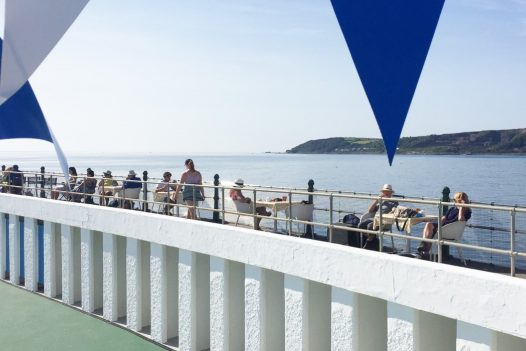 Visitors enjoy the view at the Jubilee Pool in Penzance