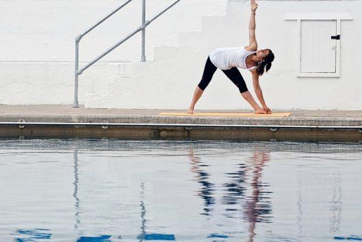 Yoga beside the Jubilee Pool in Penzance