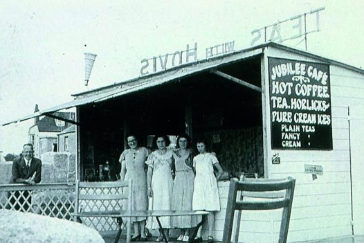 Historical photo of the Jubilee Pool Cafe in Penzance