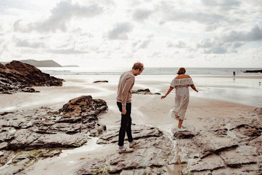 Couples can enjoy beach walks at No 6 Tregales in Polzeath - the perfect self-catering escape for Valentine's Day